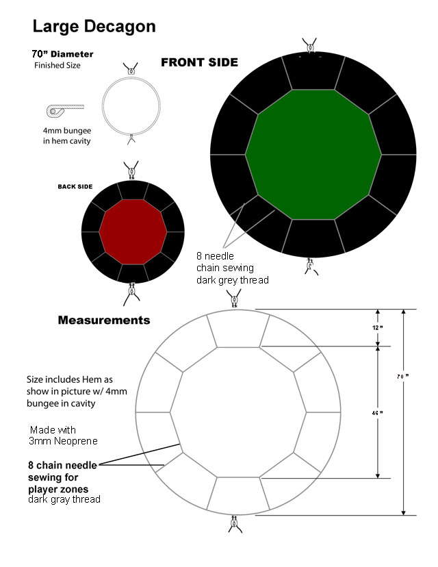 Card Table Size Dimensions Designs